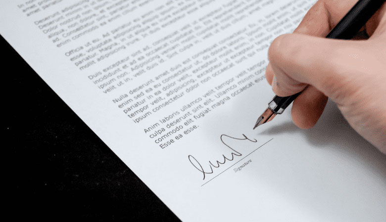 Signing The Letter Of Agreement